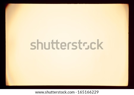 Real slide projector screen with optical effects - stock photo
