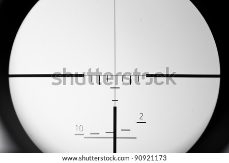 real sniper scope sight view - stock photo