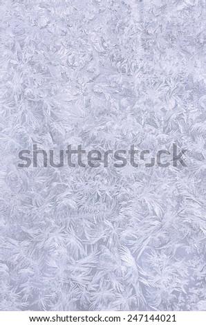 Real snowflake background. Beautiful frozen pattern. - stock photo