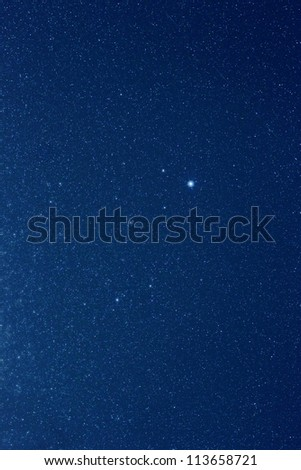 Real stars in the constellation of Lyra - stock photo