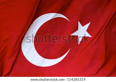 Real turkey flag to the wind