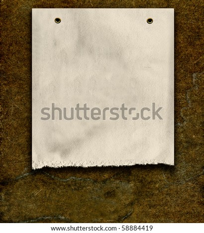 Real Vintage Old Paper On Wood - stock photo