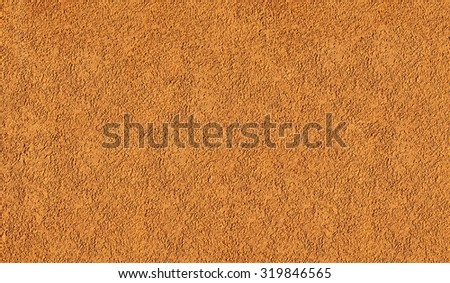 Real wall texture background. Coloured orange grunge paint pattern. Street detail yellow textured background surface. Show design or illustration with actual house wall photo color decor building. - stock photo