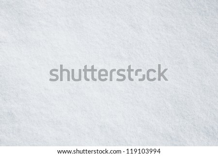 Real white snow surface