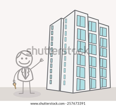 Realestate agent - stock photo