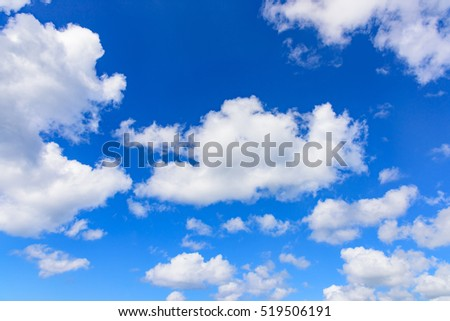 realistic abstract sky with white clouds background