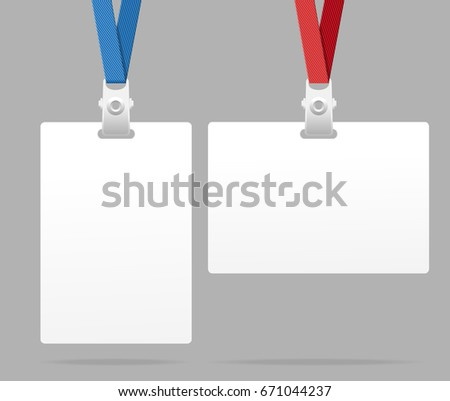 Realistic Blank Id Card Template Plastic Stock Illustration ...