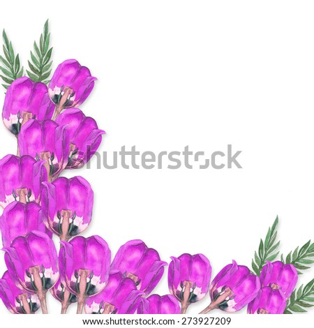 realistic bouquet of purple  tulips. Watercolor illustration. Illustration for postcards and invitations.