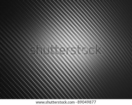 realistic carbon fiber texture background - stock photo