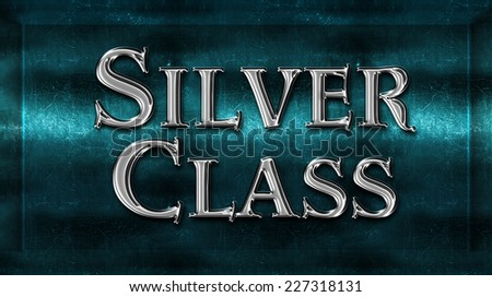 Realistic Chick Metal Silver Class Award Sign Emblem - stock photo