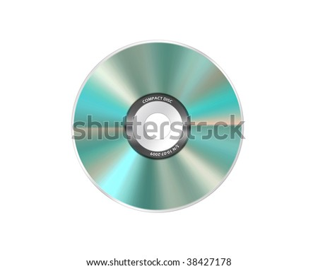 realistic compact disc isolated on a white background
