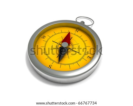 Realistic Compass isolated on white