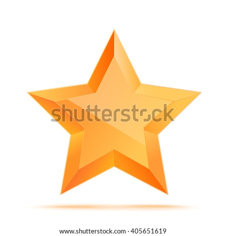 Realistic 3D gold star. Award winner. Good job. The best reward. bulk copper star. Simple star on a white background. The award for the best choice. Premium class. illustration