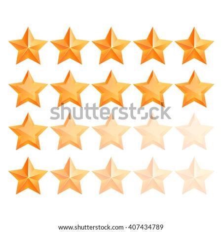 Realistic 3D gold star Set. Award winner. Good job. The best reward. bulk copper star. Simple star on a white background. The award for the best choice. Premium class. illustration - stock photo