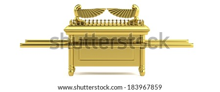 realistic 3d render of ark of the covenant - stock photo