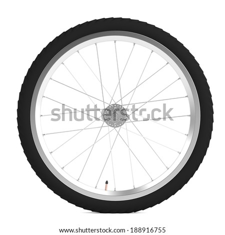 realistic 3d render of bicycle wheel