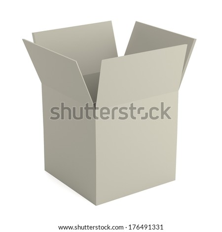 realistic 3d render of box