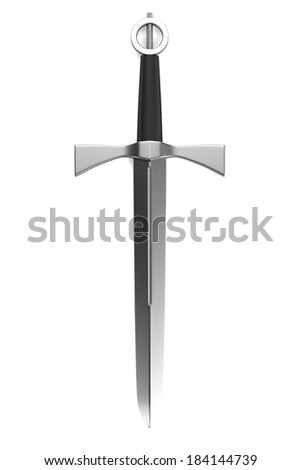 realistic 3d render of dagger