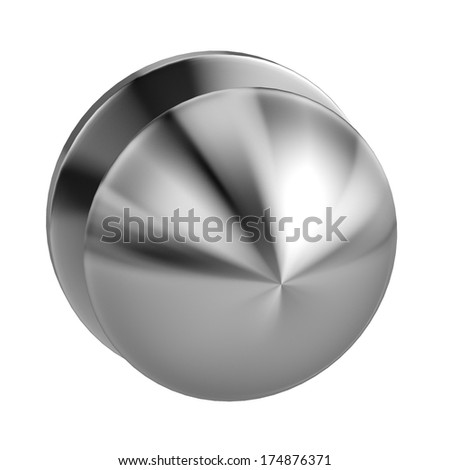 realistic 3d render of door knob
