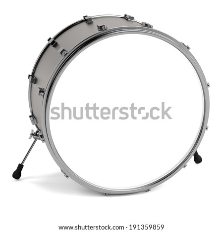 realistic 3d render of drum - stock photo