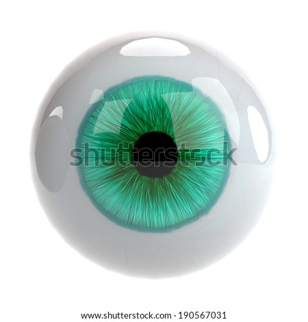 realistic 3d render of eye - stock photo