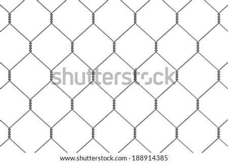 realistic 3d render of fence links