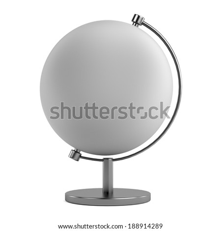 realistic 3d render of globe