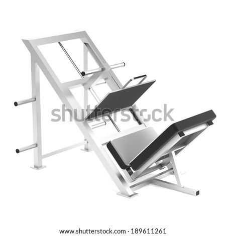 realistic 3d render of legpress