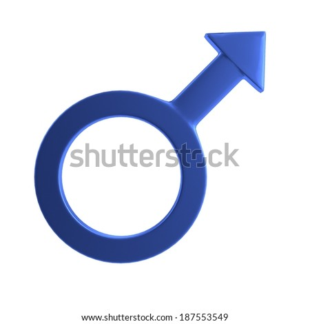 realistic 3d render of male sign - stock photo