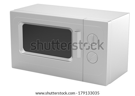 realistic 3d render of microwave