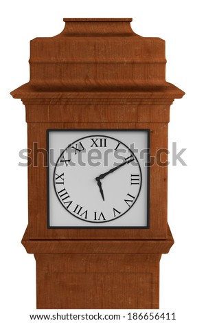realistic 3d render of old clock - stock photo
