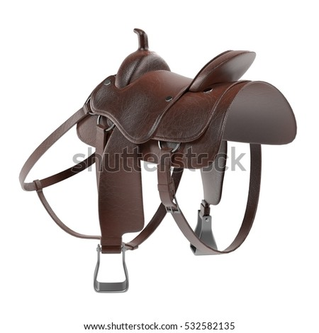 realistic 3d render of saddle