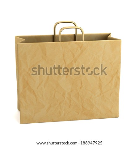 realistic 3d render of shopping bag