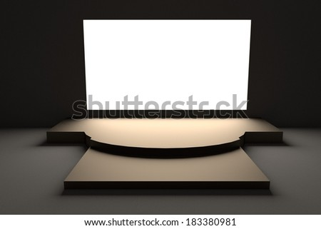 realistic 3d render of stage - stock photo