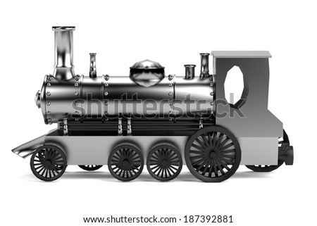 realistic 3d render of train