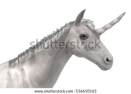 realistic 3d render of unicorn
