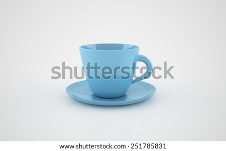 Realistic 3d rendered cup isolated on white background - stock photo