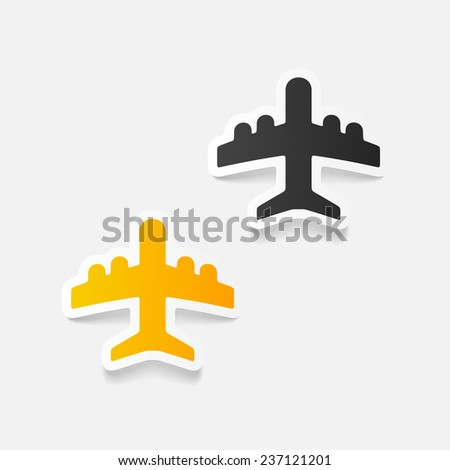 realistic design element: plane - stock photo