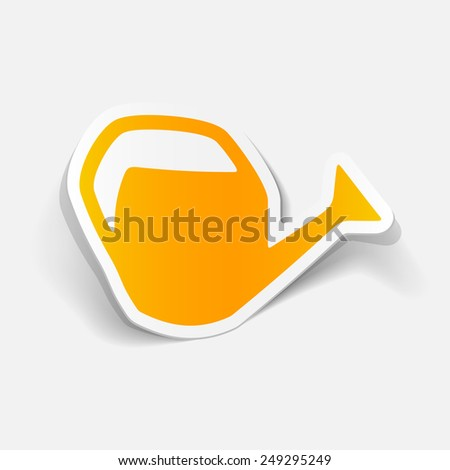 realistic design element: watering can - stock photo