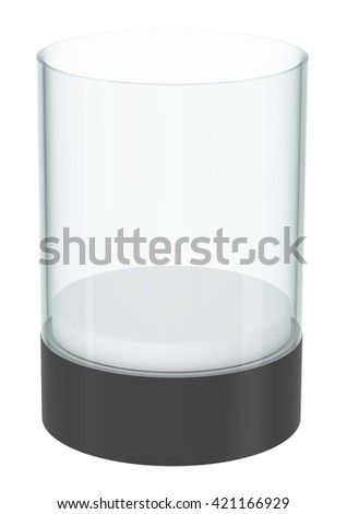 Realistic empty display case with podium, isolated 3d rendering