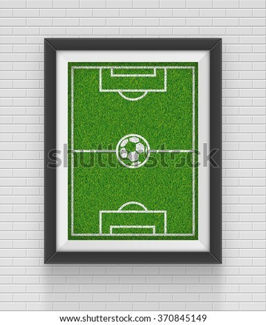Realistic frame. Soccer concept. Element for your design. JPEG version. - stock photo