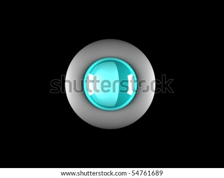 realistic glossy button with reflection
