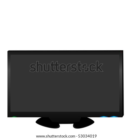 Realistic illustration LCD TV - Raster - stock photo