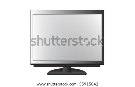 Realistic illustration of display isolated over white