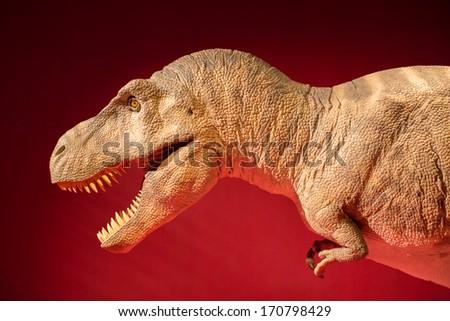 Realistic model of big Tyranosaurus Rex - stock photo