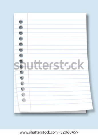 realistic paper - stock photo