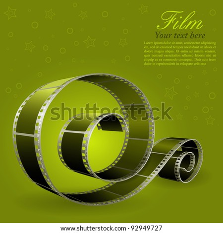 Realistic photographic film, element for design, raster version - stock photo