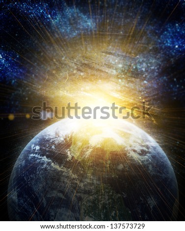 realistic planet earth in space. Elements of this image furnished by NASA