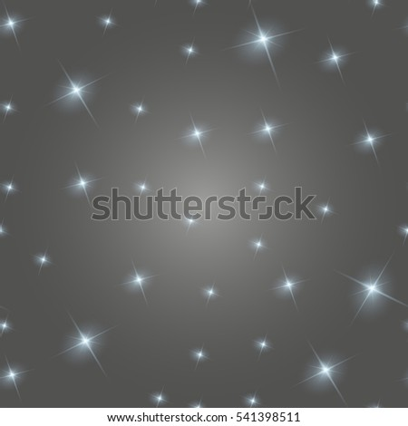 Realistic seamless  image of the night sky with stars and galaxies. Star seamless. Rasterized copy