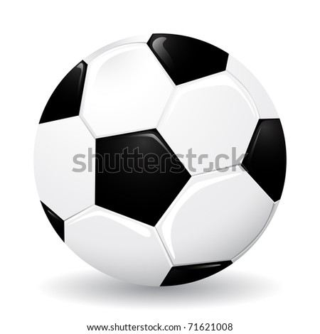 Realistic soccer ball, illustration